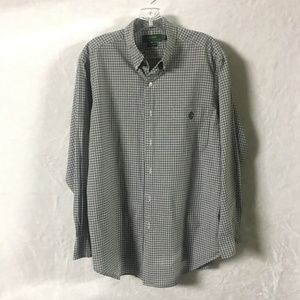 Ralph Lauren Mens Checkered Shirt Sz 16 32/33
